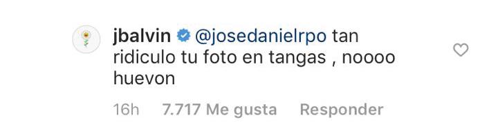 JBalvin no se dejó de los 'haters' en su instagram