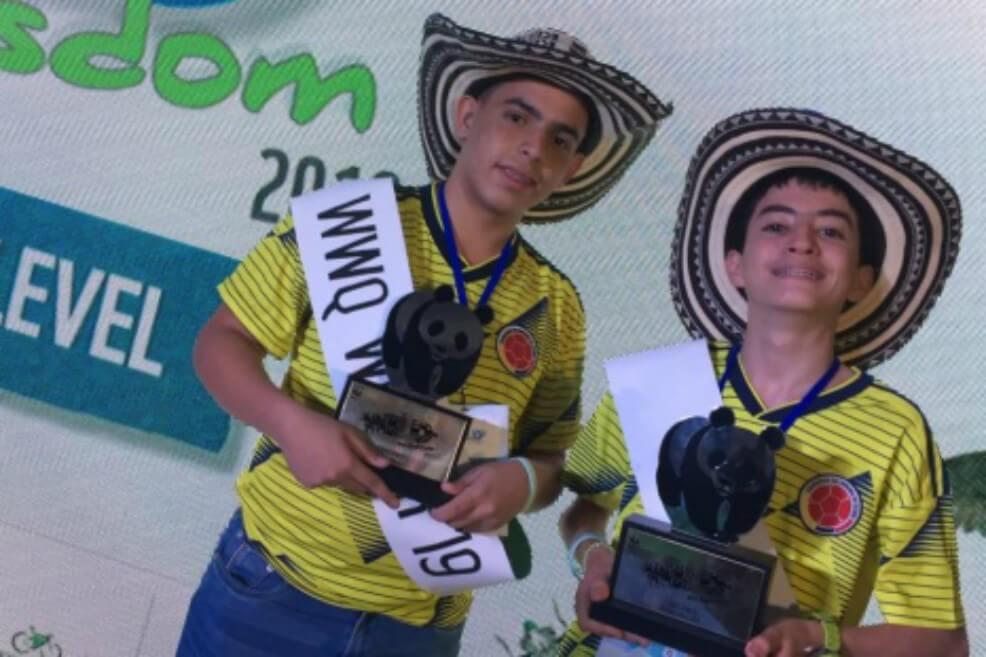 Dos jóvenes colombianos ganan concurso global sobre biodiversidad