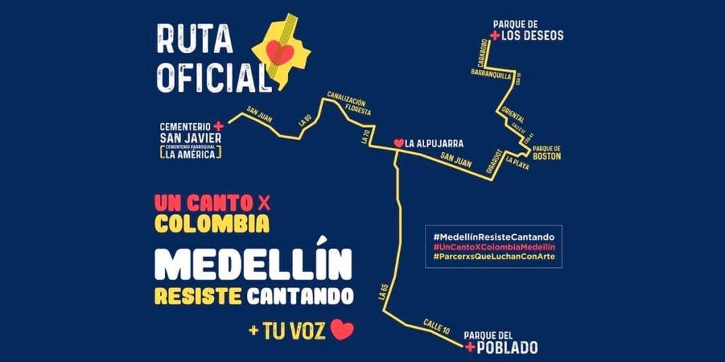 Hoy se realiza la jornada de 'Un canto por Colombia' en Medellín