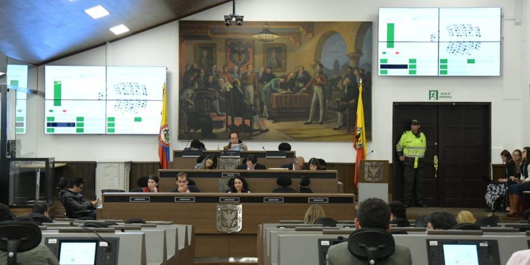 Concejo de Bogotá Plan de Desarrollo