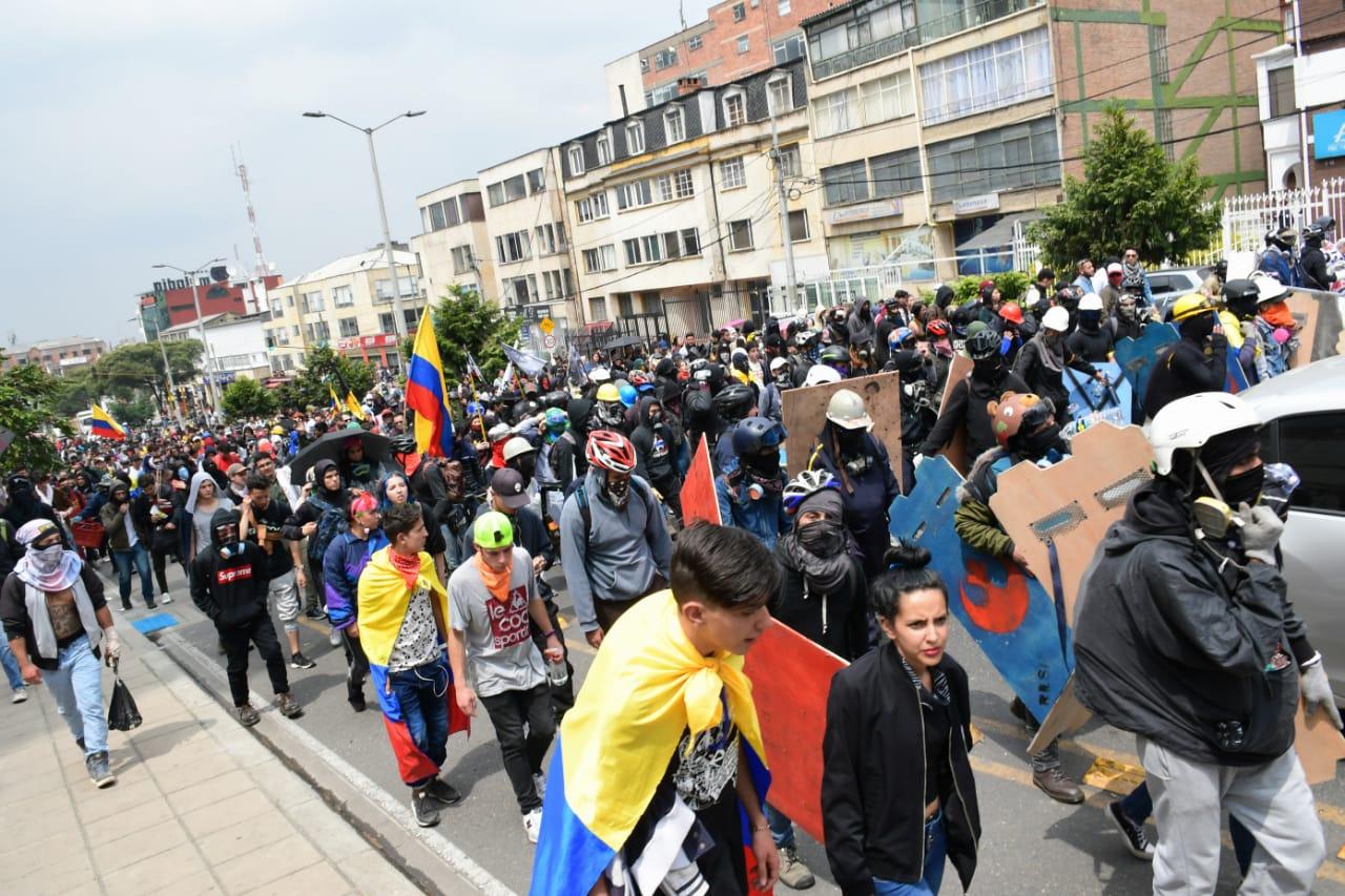 De 20 marchas y concentraciones, solo en cuatro tuvo que intervenir el Esmad