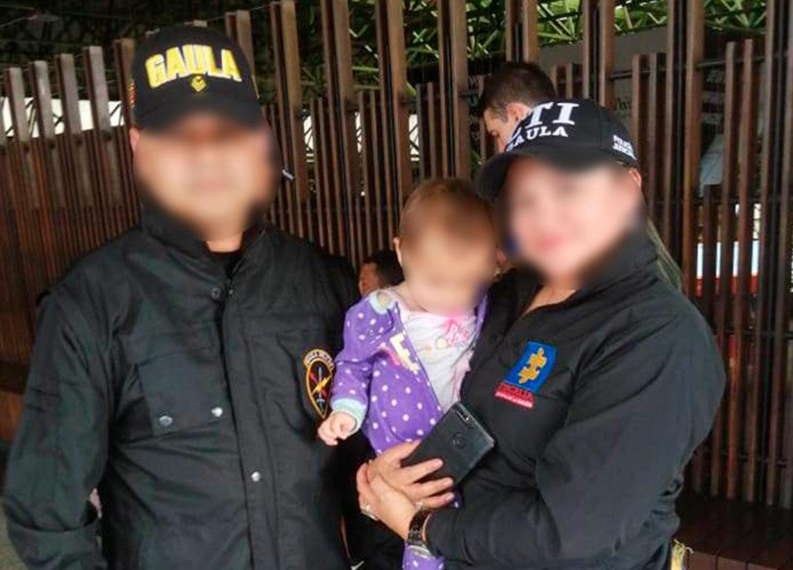 Gaula Militar Cundinamarca rescató a una menor de ocho meses