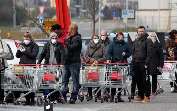 Italia ya cuenta el cuarto muerto por coronavirus