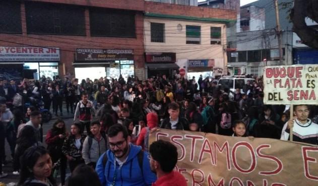 Estudiantes del SENA protestan por faltas institucionales en el nuevo curso