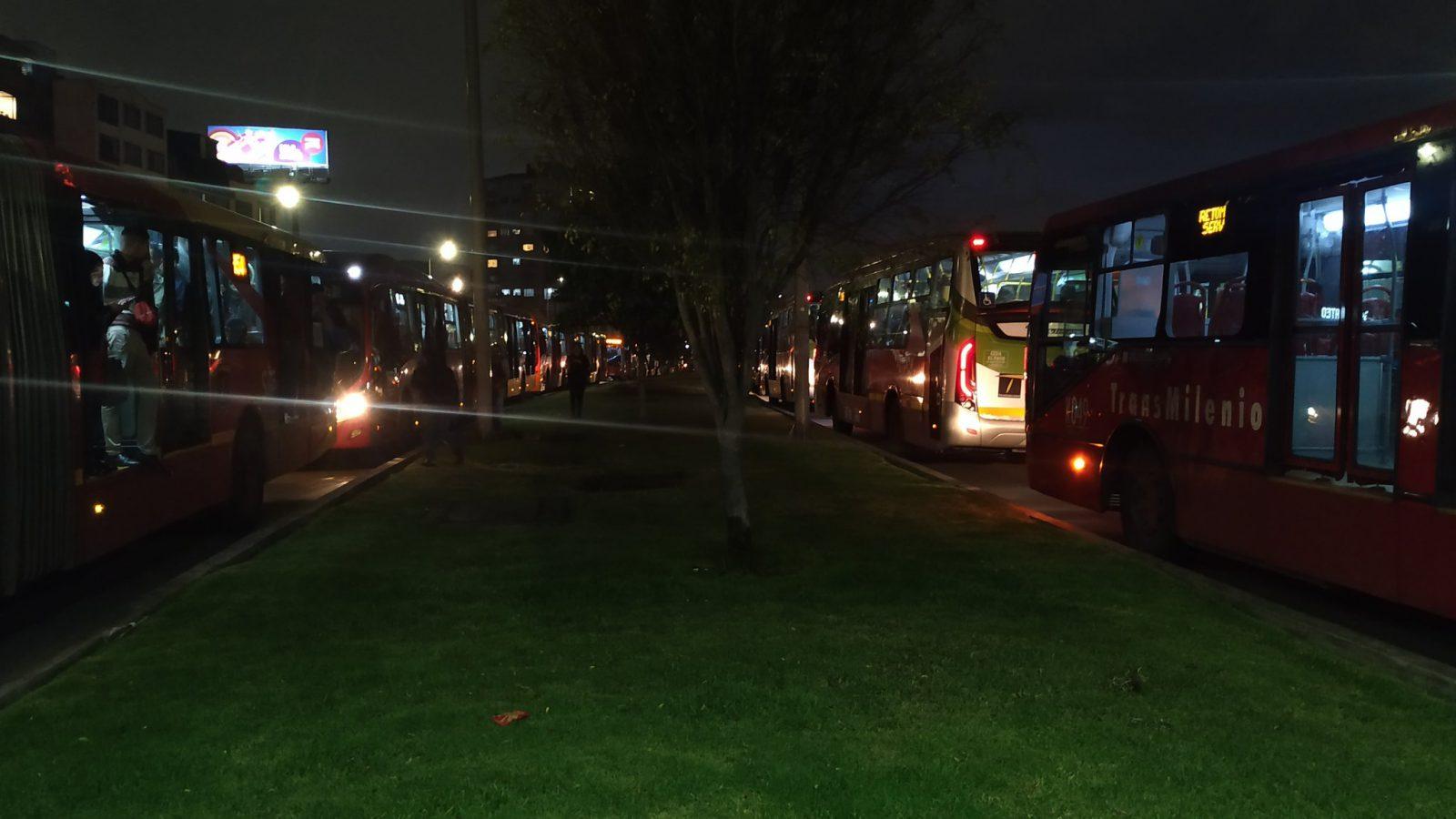 Transmilenio colapsó por manifestaciones