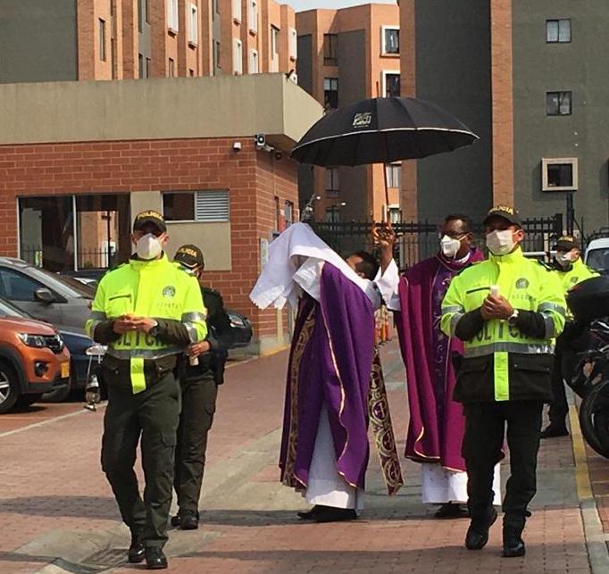 Policía Nacional se encargó de eucaristía en Soacha