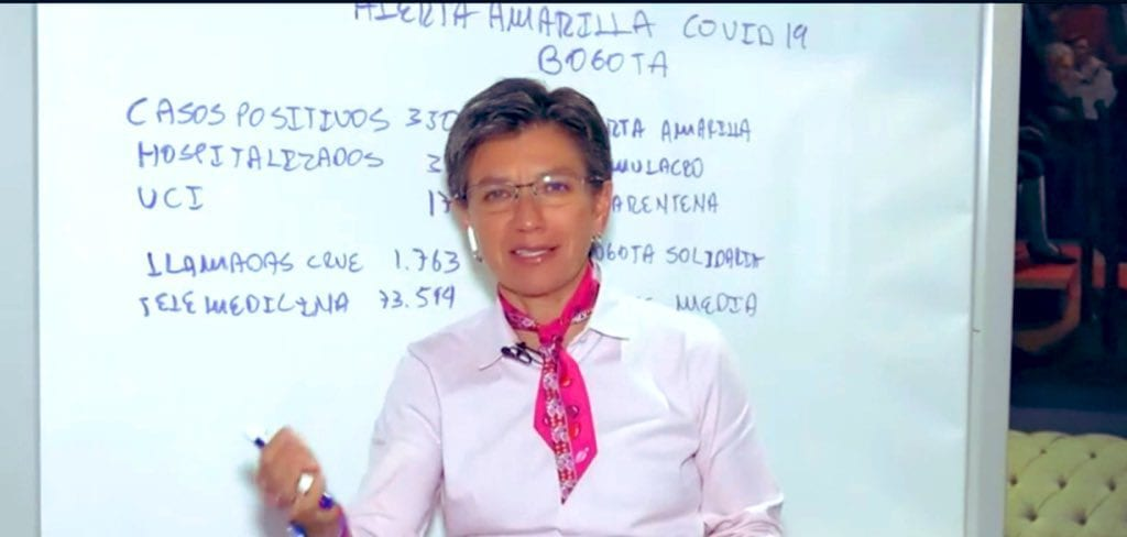 Claudia López: cuarentena en Bogotá