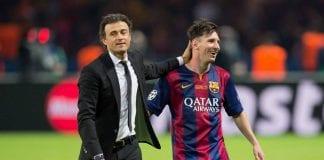 Luis Enrique y Lionel Messi