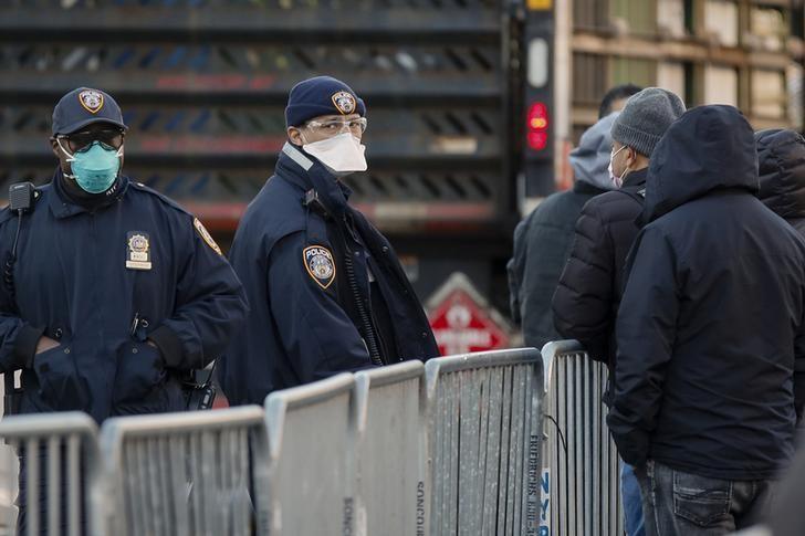 Policía de Nueva York Covid-19