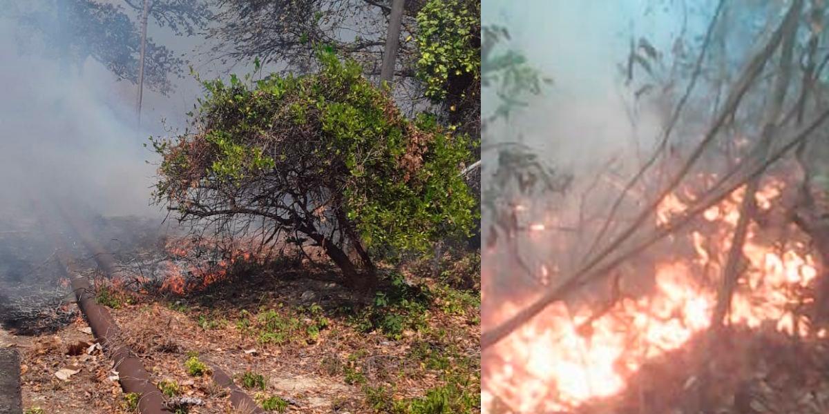 Incendio amenaza con destruir el acueducto en Maicao, La Guajira
