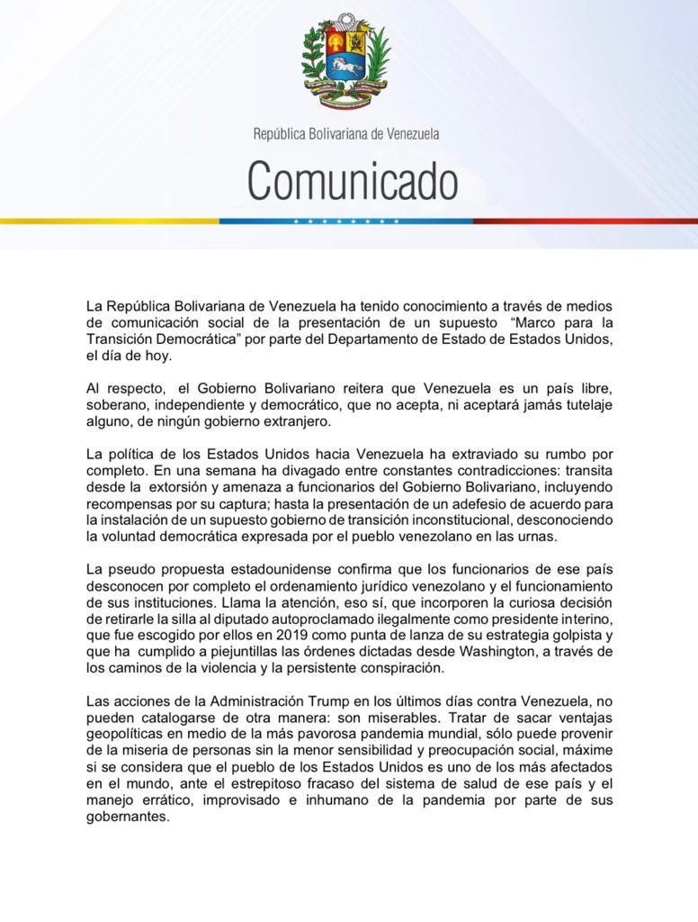 Régimen venezolano reacciona con amenazas al despliegue del Comando Sur