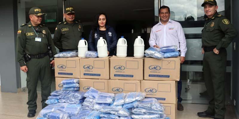 Fuerzas militares en Cundinamarca reciben elementos de bioseguridad