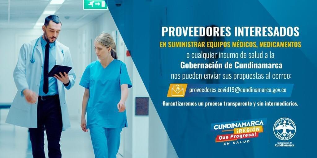 Gobernación recibirá propuestas de insumos de salud