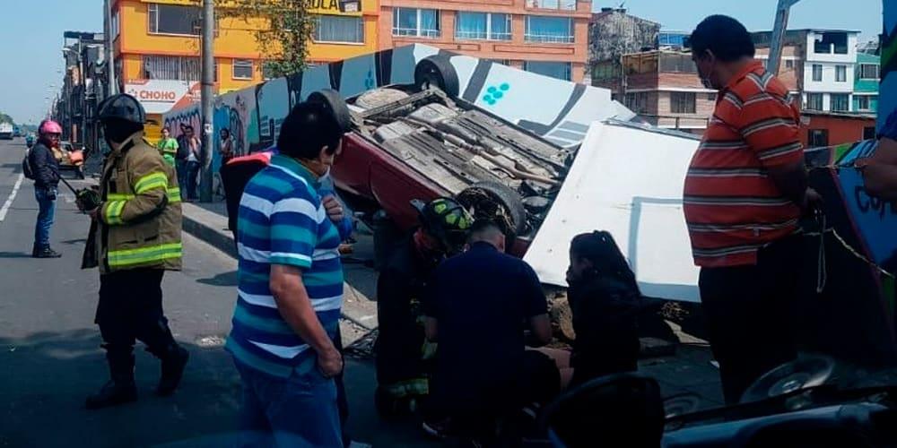 En cuarentena se han registrado 848 accidentes viales en Bogotá