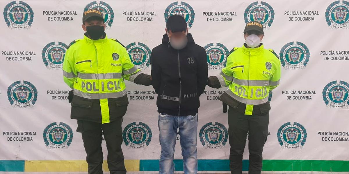 Capturan delincuente en el barrio Rincón del Lago por porte de estupefacientes