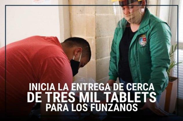 En Funza se entregaron cerca de Tres mil tablets