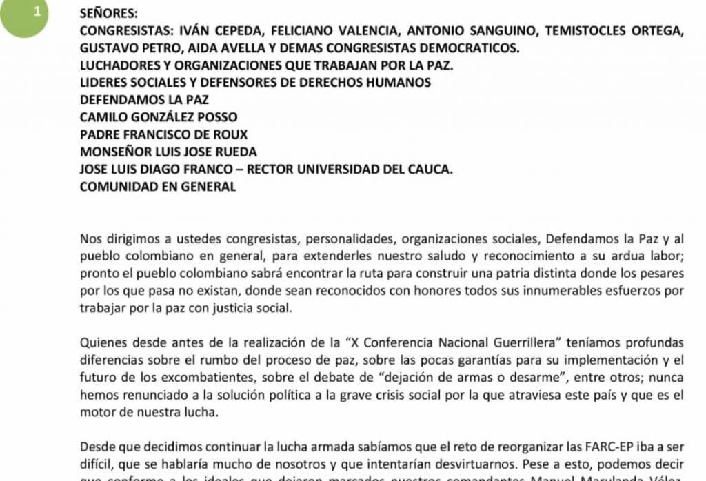 Las Farc de Iván Márquez aseguran haber recuperado gran parte del territorio nacional