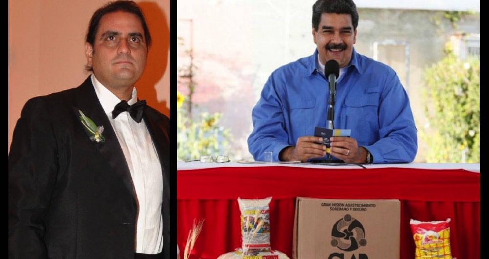 Alex Saab y Nicolás Maduro