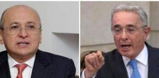 Eduardo Montealegre y Álvaro Uribe