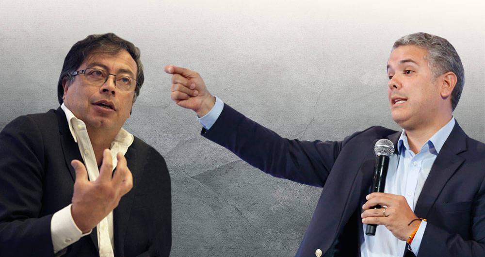Gustavo Petro e Iván Duque