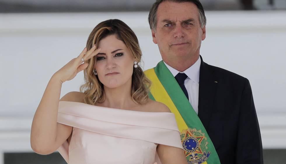 Esposa de Bolsonaro