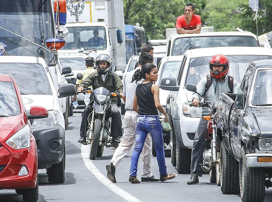 Peatones y motorizados