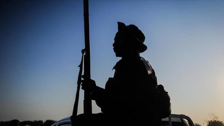 Soldado armado en El Congo