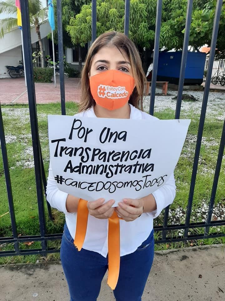 Protesta en la Gobernación del Magdalena