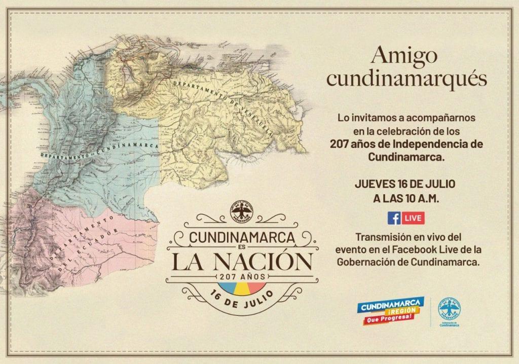 Cundinamarca conmemora 207 años de independencia