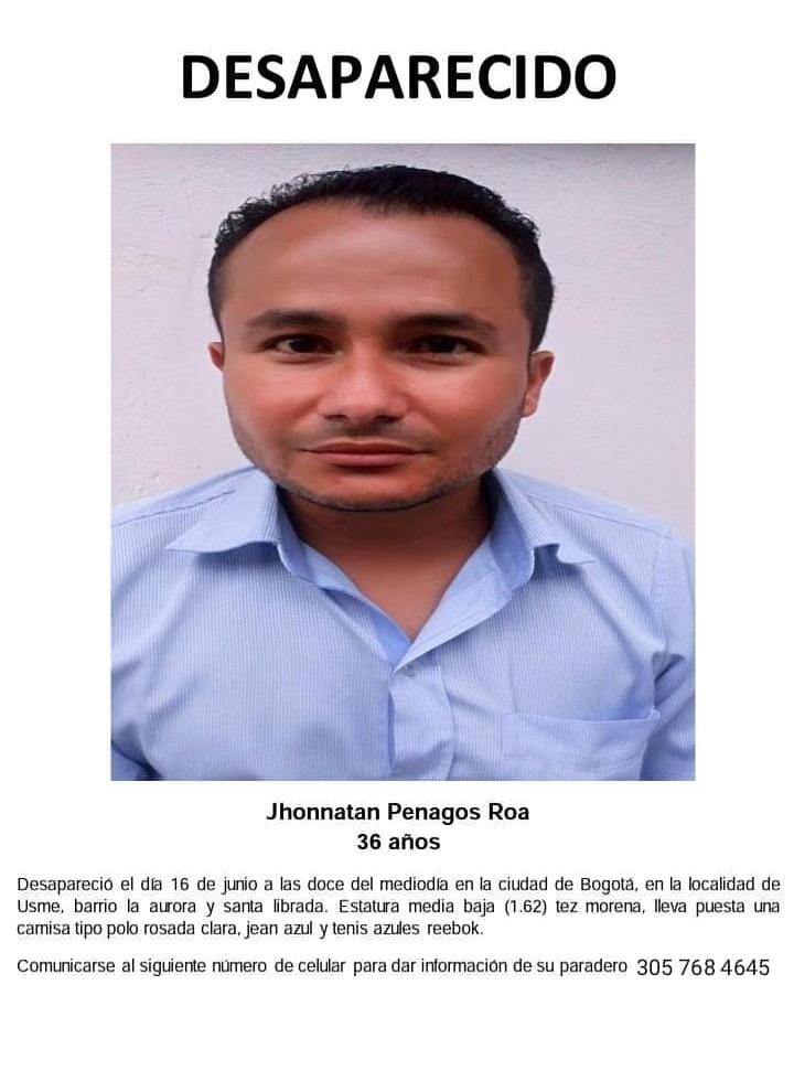 Hombre desesperado por deudas pidió perdón y desapareció de su casa en Usme
