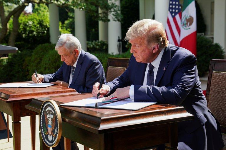 encuentro AMLO y Trump