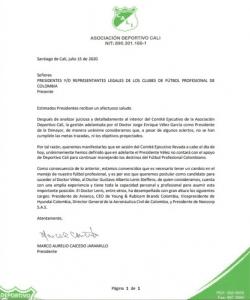Equipos del FPC piden salida de Jorge Enrique Vélez de la Dimayor