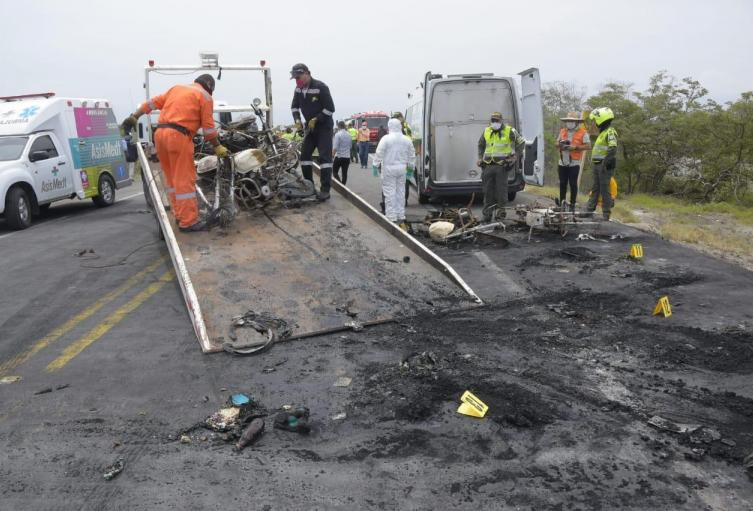 quemados accidente