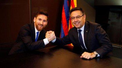Bartomeu pone en las manos de Messi el futuro del Barcelona