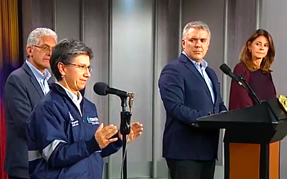 Claudia López e Iván Duque, la presidencia responde