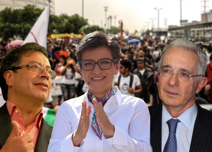 Petro, Claudia López y Uribe