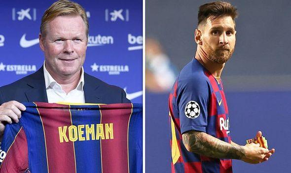 Ronald Koeman y Lional Messi