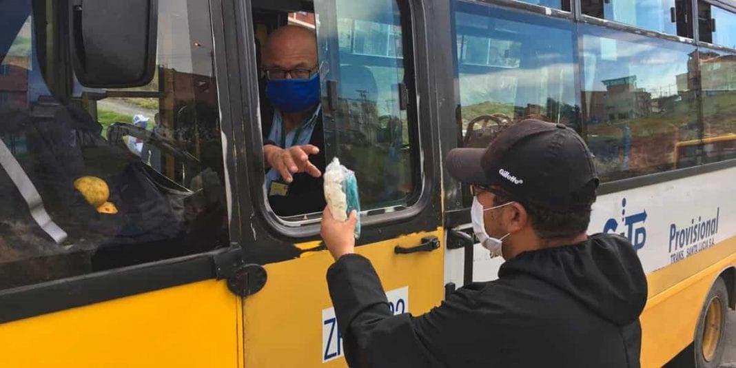 Se entregarán kits de bioseguridad a conductores del SITP