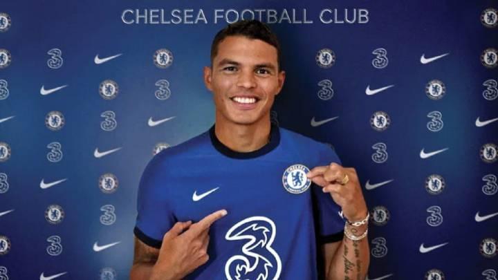 Thiago Silva ahora en el Chelsea