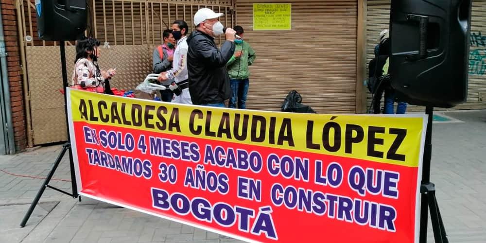 comerciantes protestas
