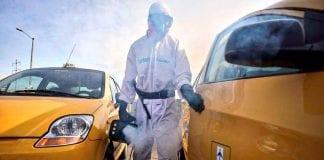 Desinfección taxis