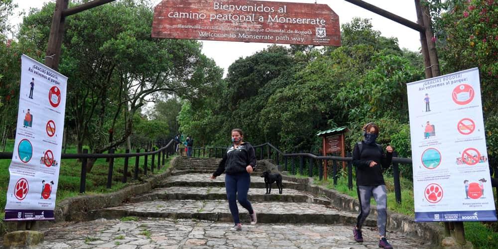 parques, ciclovías y el sendero de Monserrate