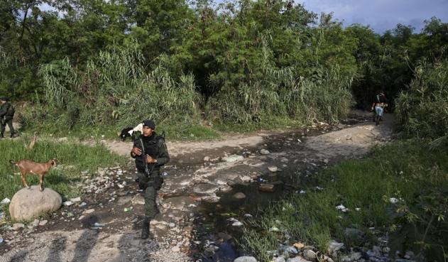 Balacera en frontera