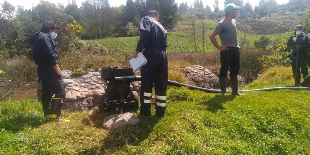 Imponen medida preventiva en Facatativá por captación ilegal de agua