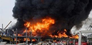 Incendio en el Líbano