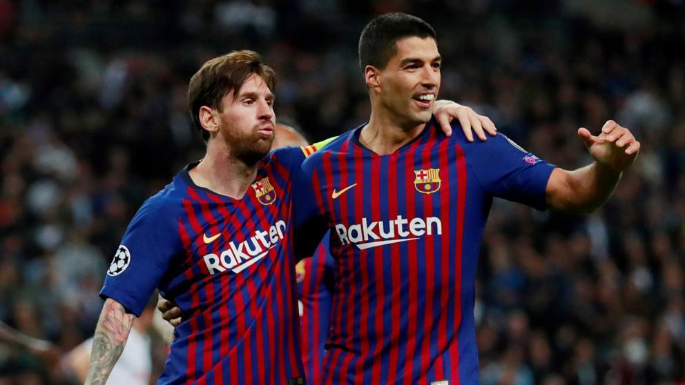 Lionel Messi y Luis Suárez