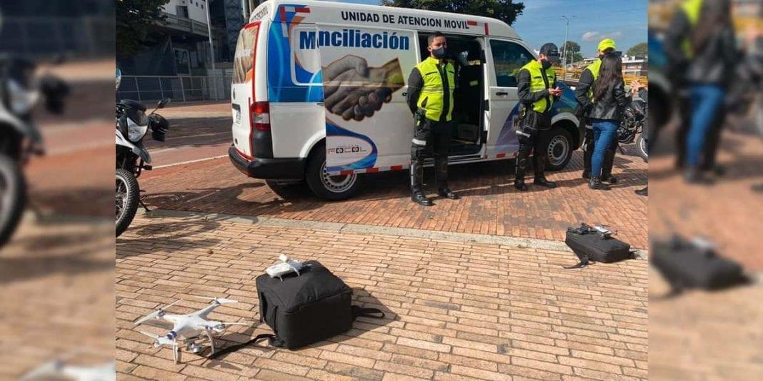 Con drones se atenderán choques simples en Bogotá