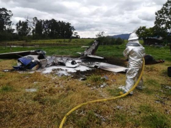 Estudiante de Aeroandes se estrelló cerca al aeropuerto de Guaymaral