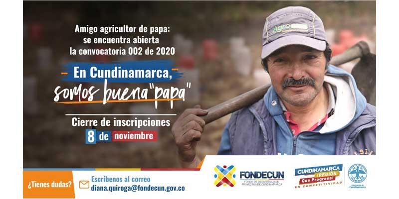 Cundinamarca convoca a productores de papa del departamento