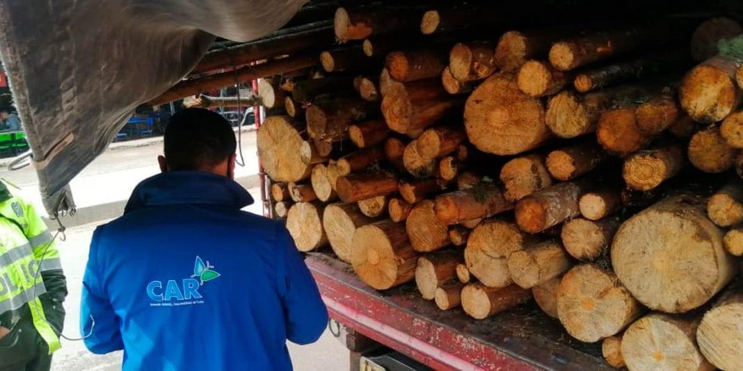 Decomisan cargamento de madera ilegal en la vía a La Calera